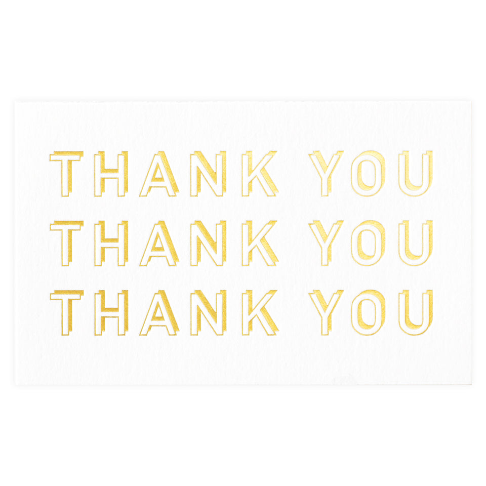 Poem Press Thank You Gold Greeting Card