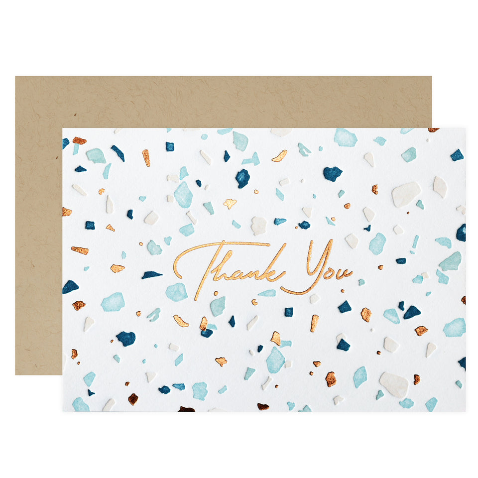 Elum Terrazzo Folded Thank You Cards Boxed