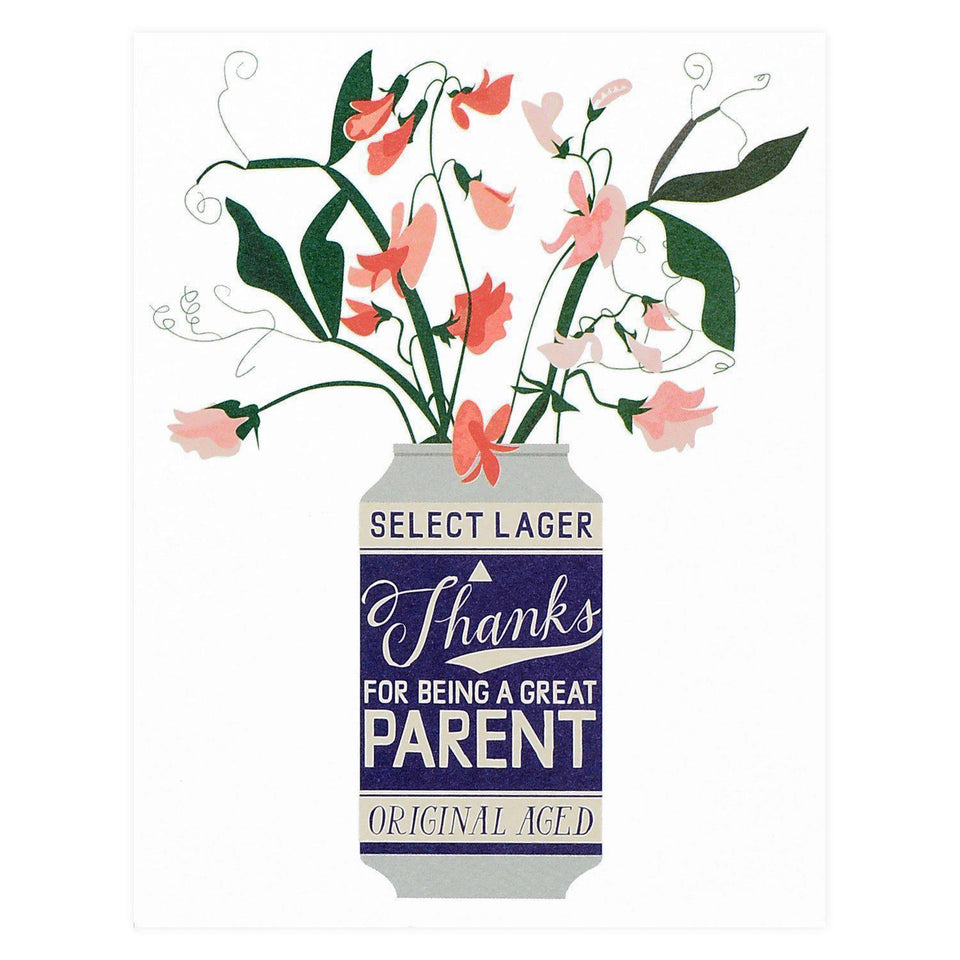 Banquet Workshop Thanks For Being A Great Parent Greeting Card