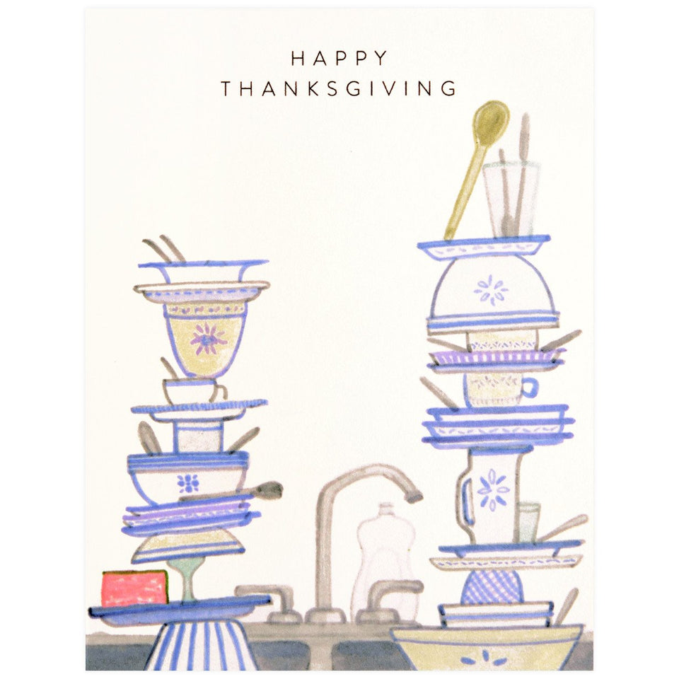Dear Hancock Thanksgiving Dishes Greeting Card