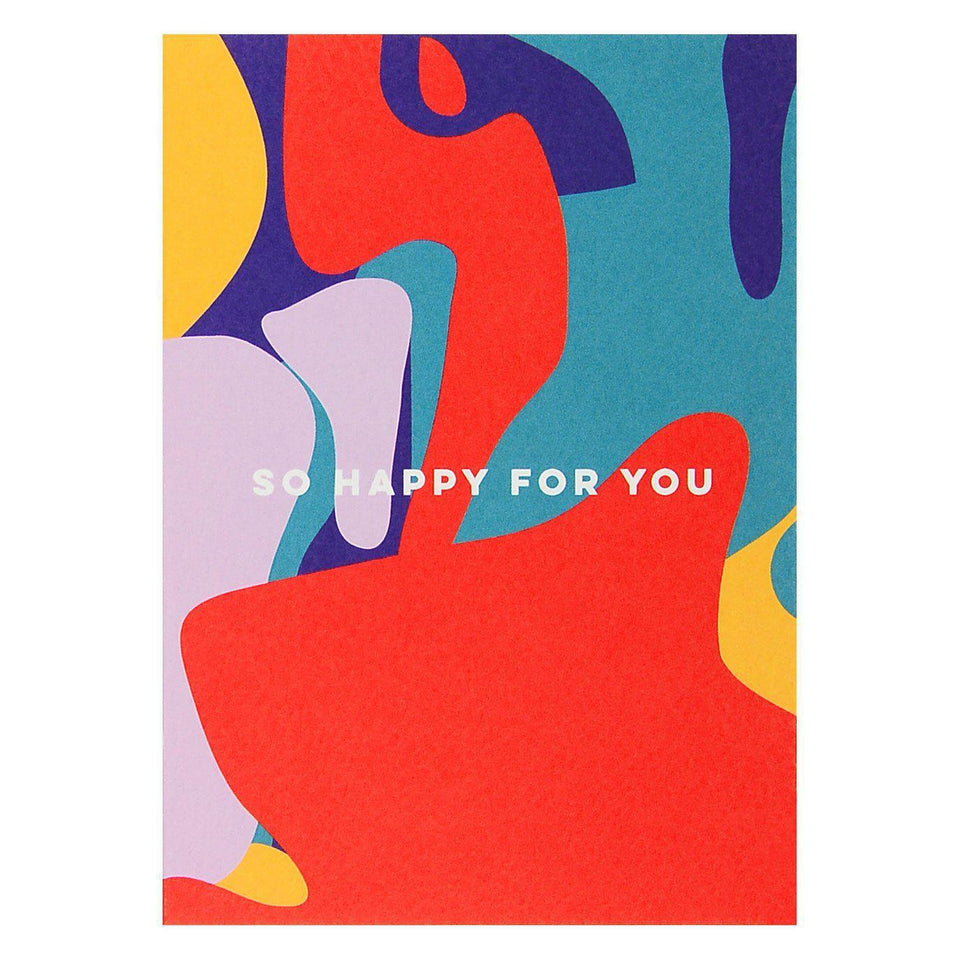 The Completist So Happy For You Shapes Greeting Card