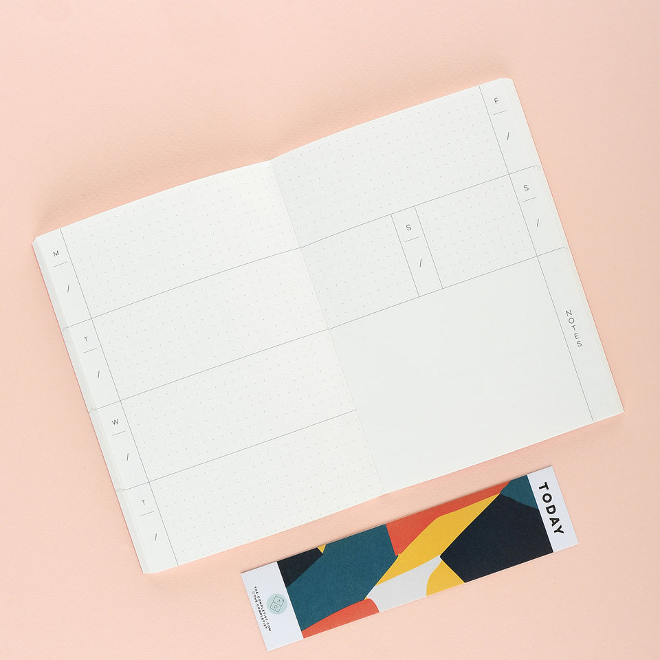 The Completist Overlay Shapes Lay Flat Pocket Planner Undated