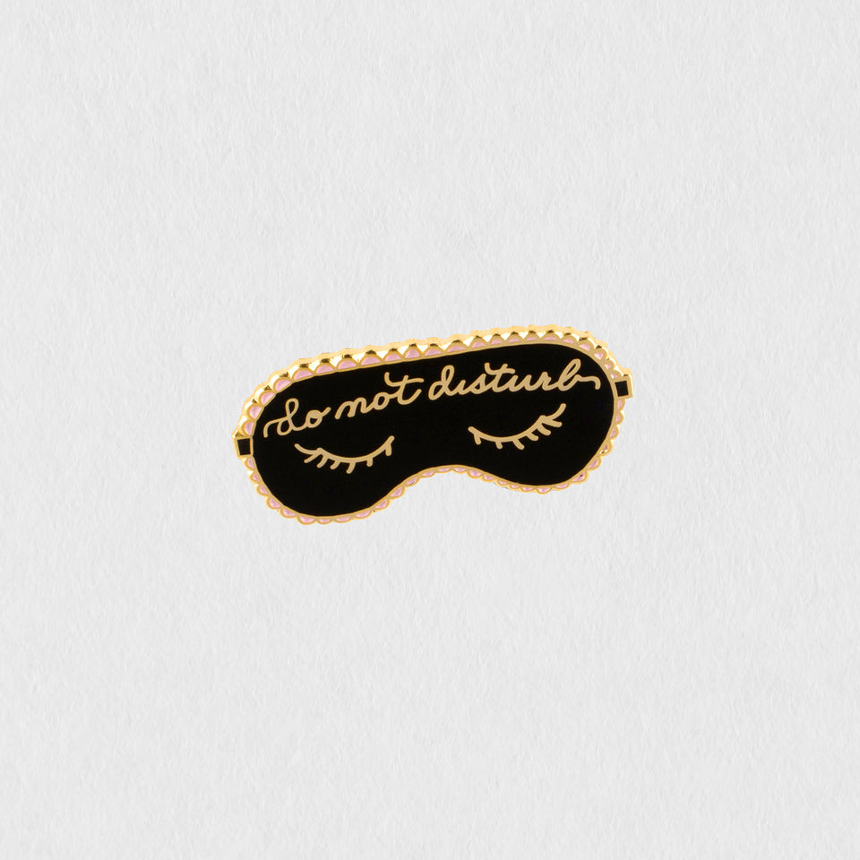 The First Snow Do Not Disturb Enamel Pin