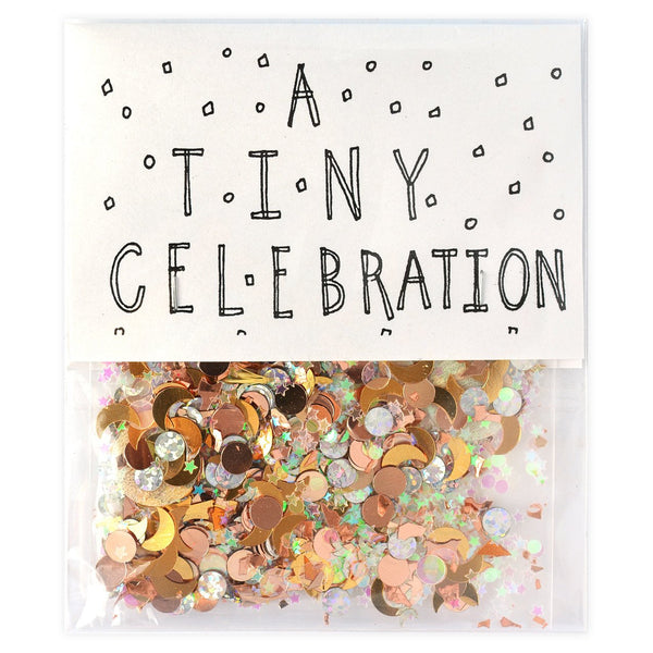 The Great Lakes A Tiny Celebration Sparkly Confetti - GREER Chicago Online Stationery Shop
