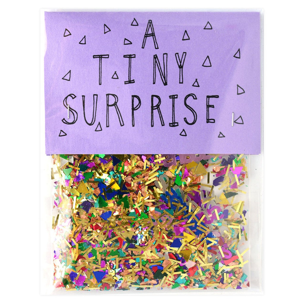 A Tiny Surprise Sparkly Confetti - GREER Chicago Online Stationery