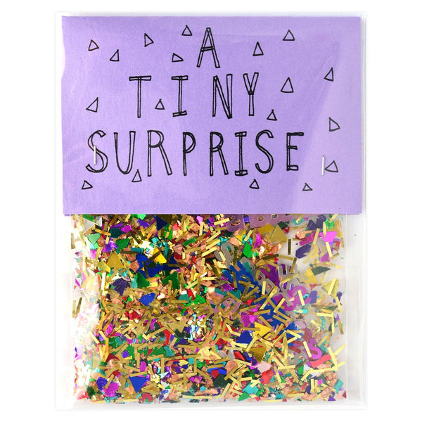 The Great Lakes A Tiny Surprise Sparkly Confetti - GREER Chicago Online Stationery Shop