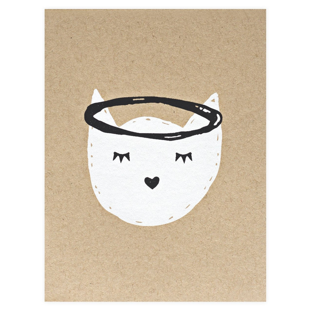 Cat Angel Pet Sympathy Card By The Paper Cub