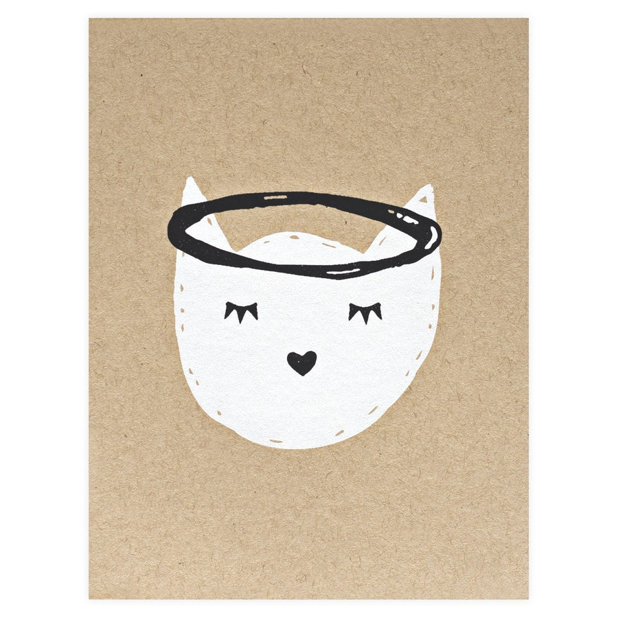 The Paper Cub Cat Angel Pet Sympathy Card - GREER Chicago Online Stationery Shop