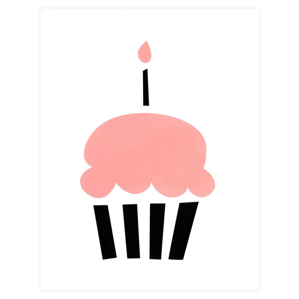 Cupcake Birthday Card - GREER Chicago Online Stationery