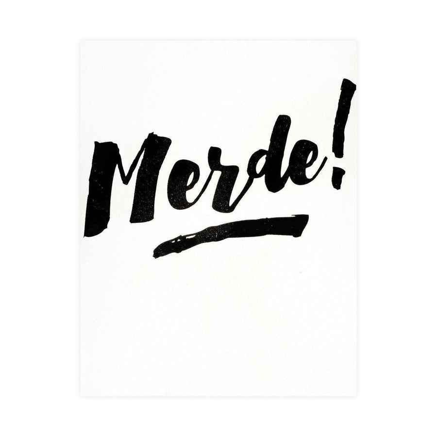 The Social Type Merde! Card