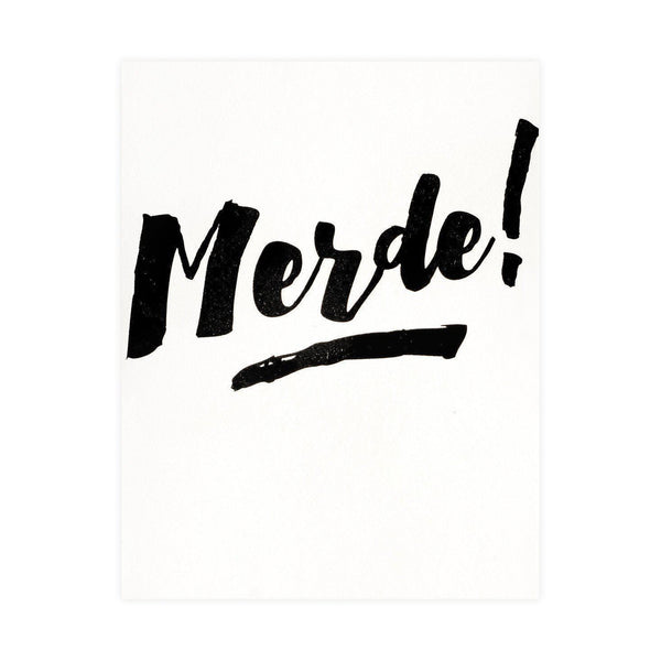 Merde! Card - GREER Chicago Online Stationery