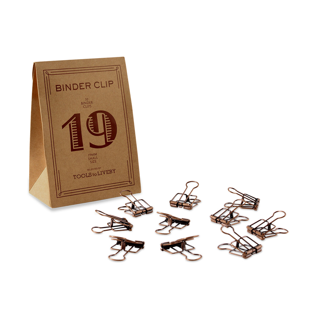 TOOLS to LIVEBY Binder Clips 19mm Bronze