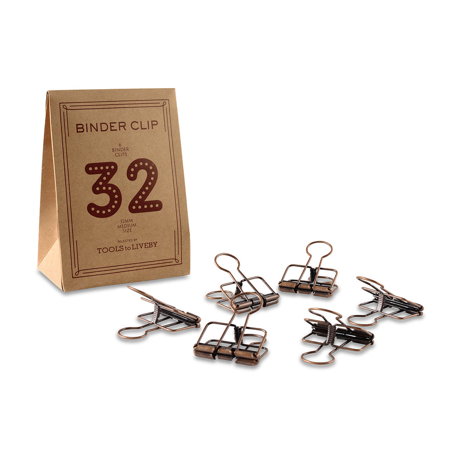 TOOLS to LIVEBY Binder Clips 32mm Bronze