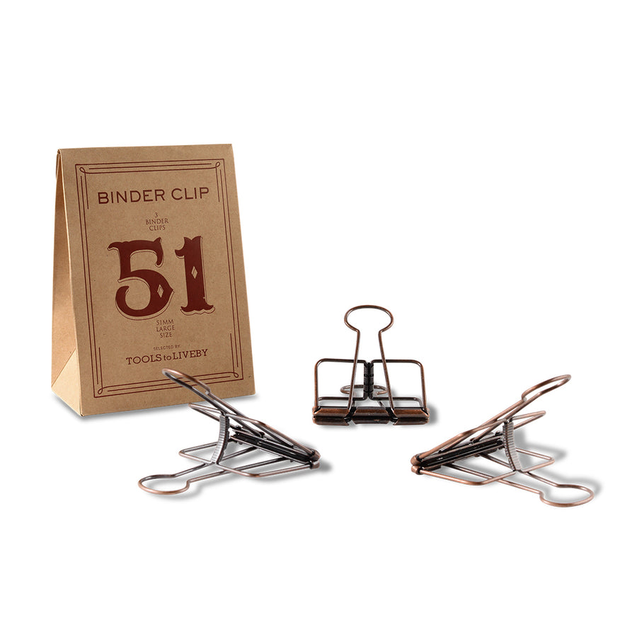 TOOLS to LIVEBY Binder Clips 51mm Bronze