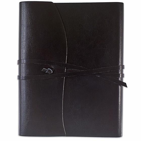 Cavallini Toscana Hardbound Bonded Leather Journal Black