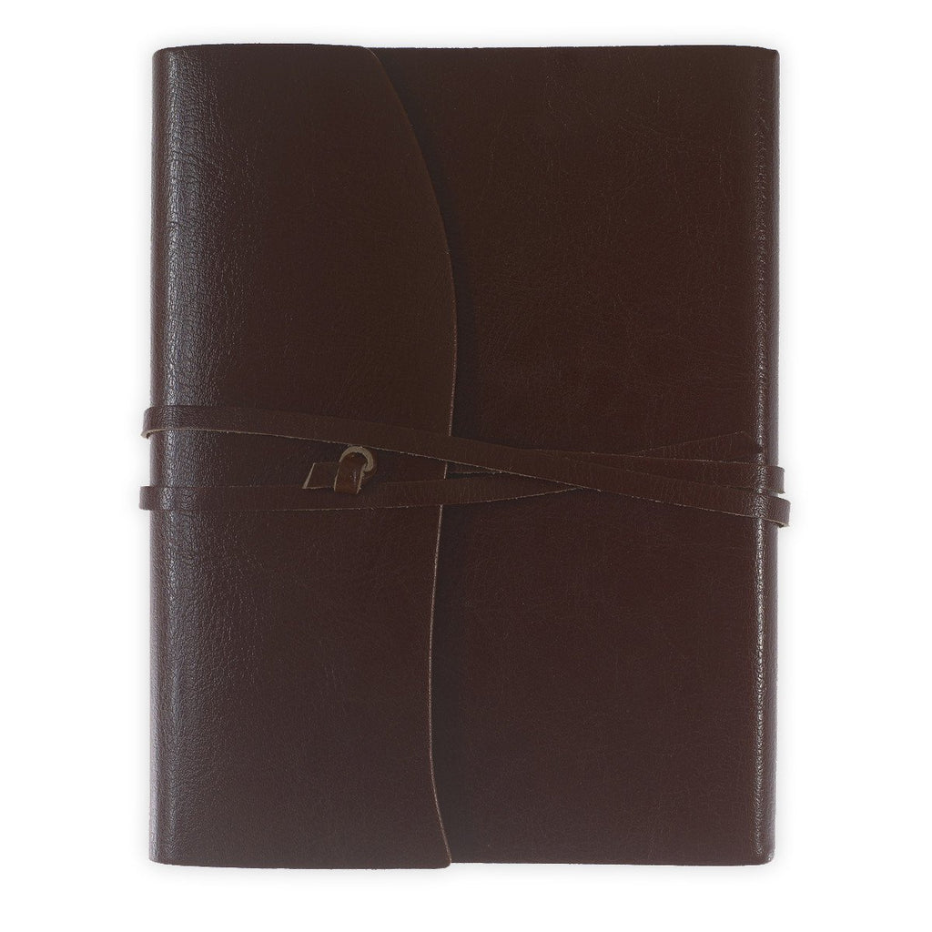 Toscana Hardbound Bonded Leather Journal Brown - GREER Chicago Online Stationery
