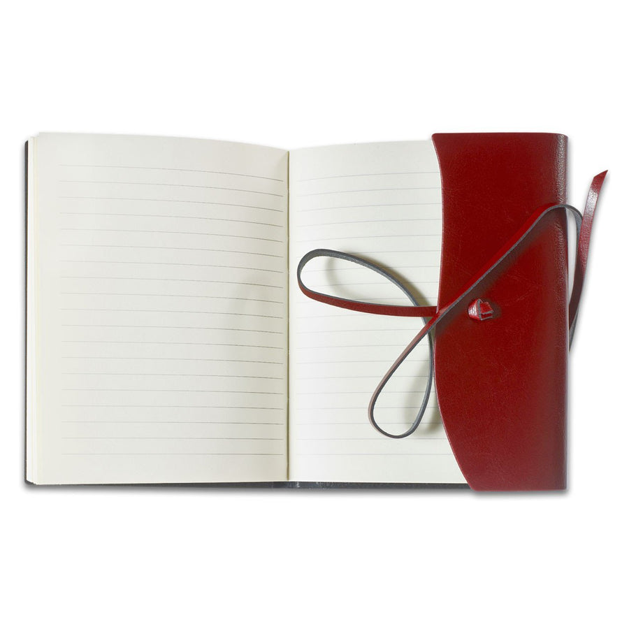 Cavallini Toscana Hardbound Bonded Leather Journal Red - GREER Chicago Online Stationery Shop