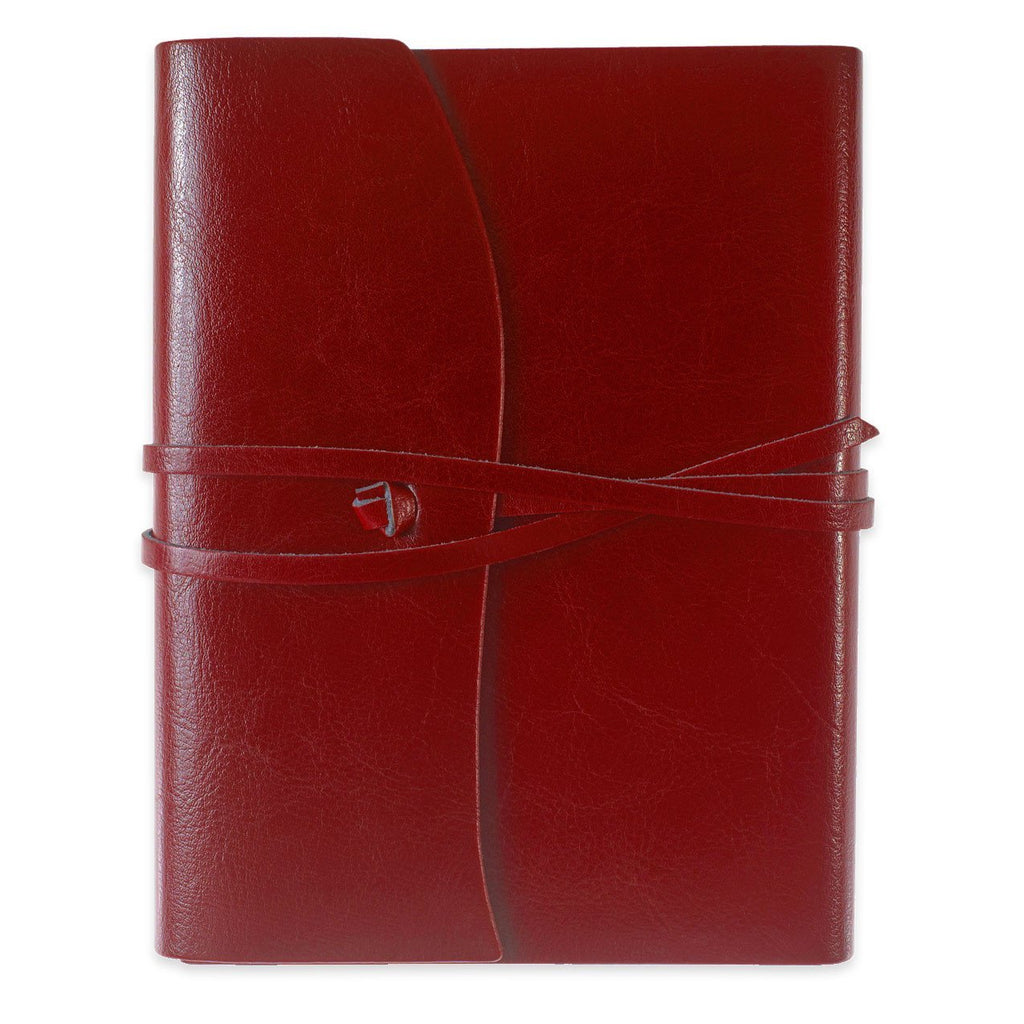 Toscana Hardbound Bonded Leather Journal Red By Cavallini - 1