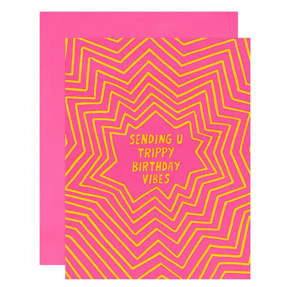 Trippy Birthday Greeting Card