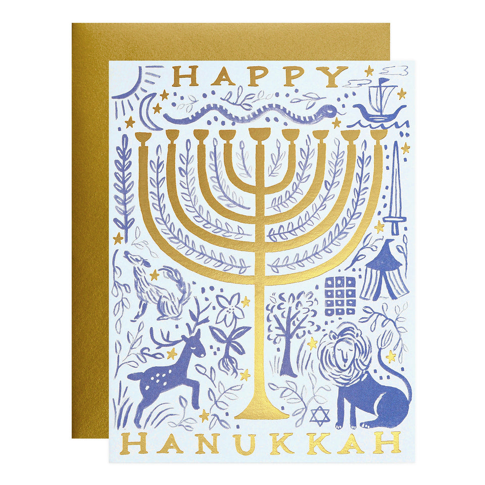 Rifle Paper Co. Twelve Tribes Menorah Hanukkah Cards Boxed or Single