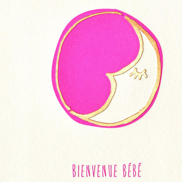 Underwood Letterpress Bienvenue Bebe New Baby Greeting Card - GREER Chicago Online Stationery Shop