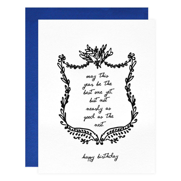 Underwood Letterpress Best One Yet Birthday Card - GREER Chicago Online Stationery Shop