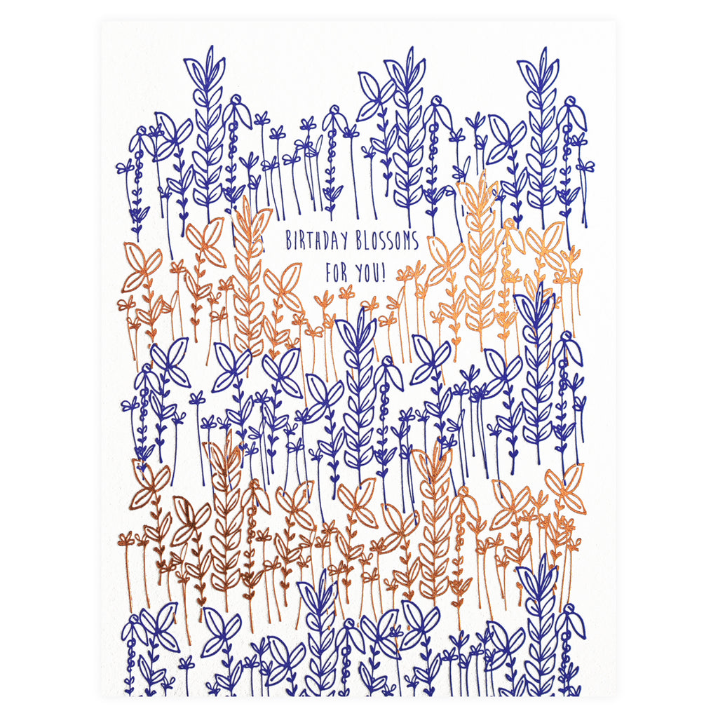 Underwood Letterpress Birthday Blossoms Greeting Card
