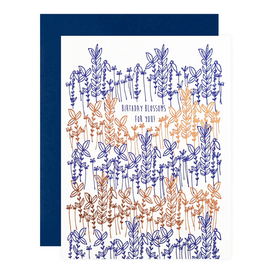 Underwood Letterpress Birthday Blossoms Greeting Card - GREER Chicago Online Stationery Shop