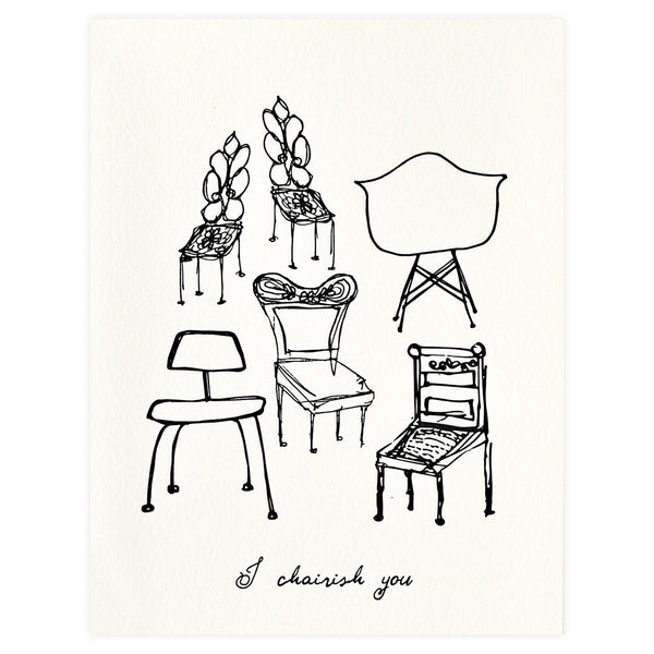 Underwood Letterpress Chairish You Greeting Card - GREER Chicago Online Stationery Shop