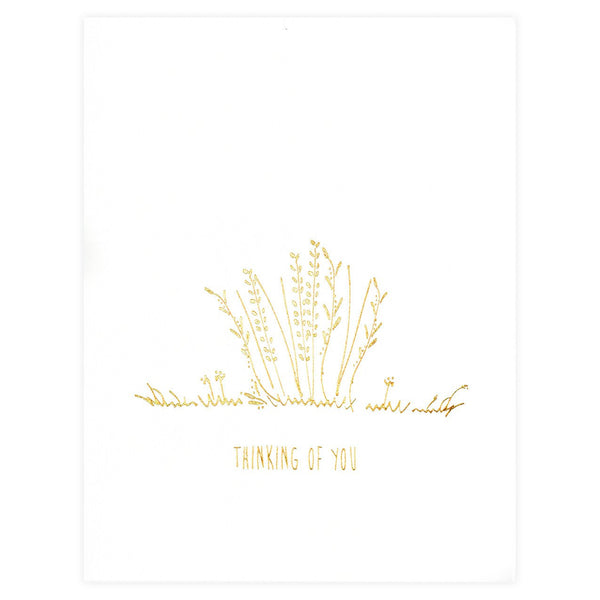 Underwood Letterpress Thinking Of You Flowers Greeting Card - GREER Chicago Online Stationery Shop