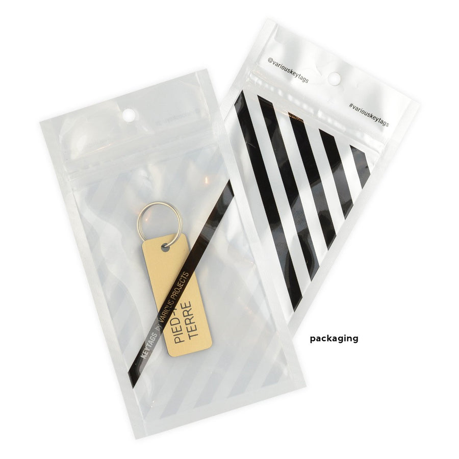Various Projects Pied A Terre Key Tag - GREER Chicago Online Stationery Shop