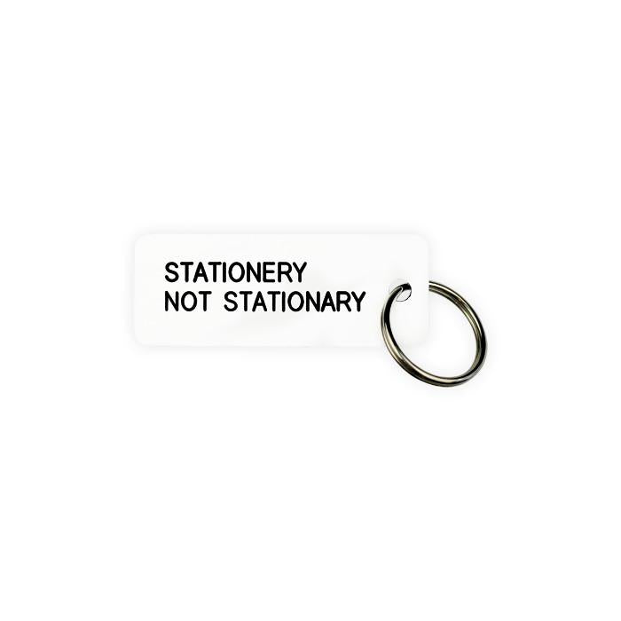Various Projects Stationery Not Stationary Key Tag