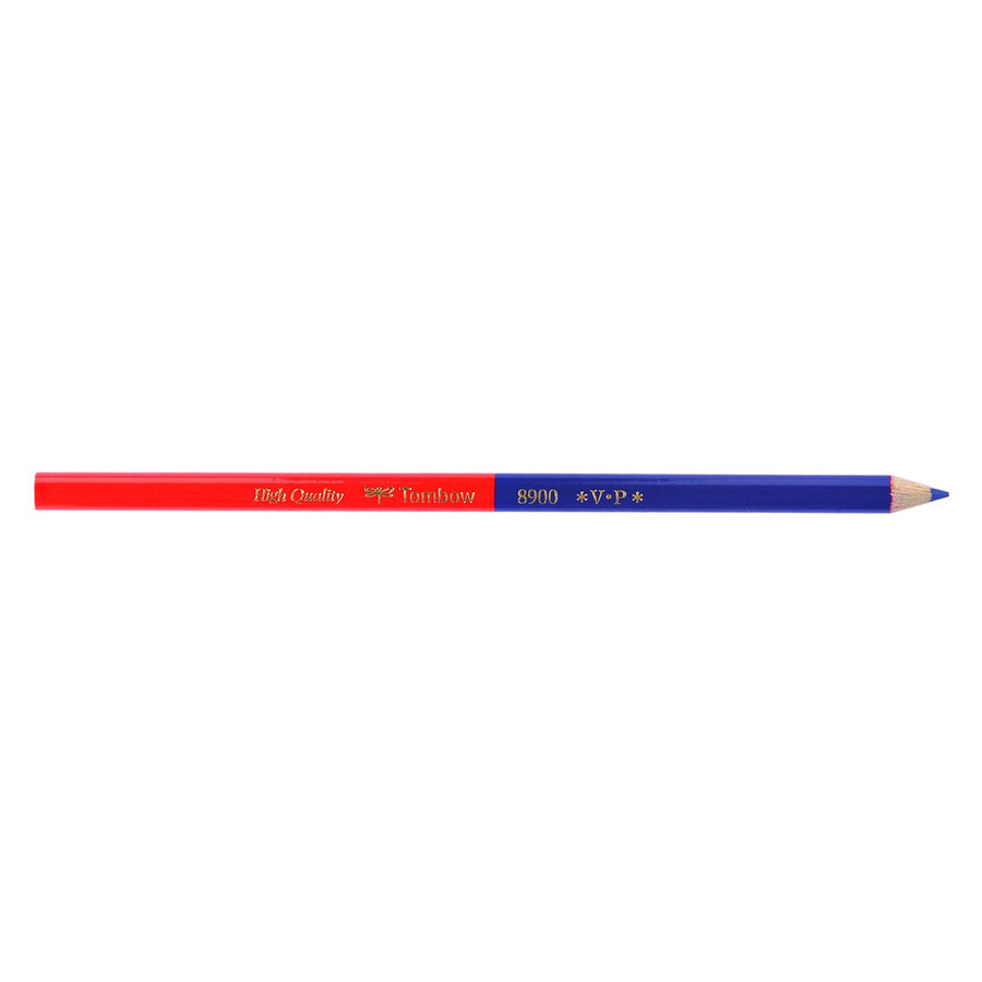Tombow 8900 Vermillion/Prussian Blue Editing/Marking Pencils Set of Two - GREER Chicago Online Stationery Shop