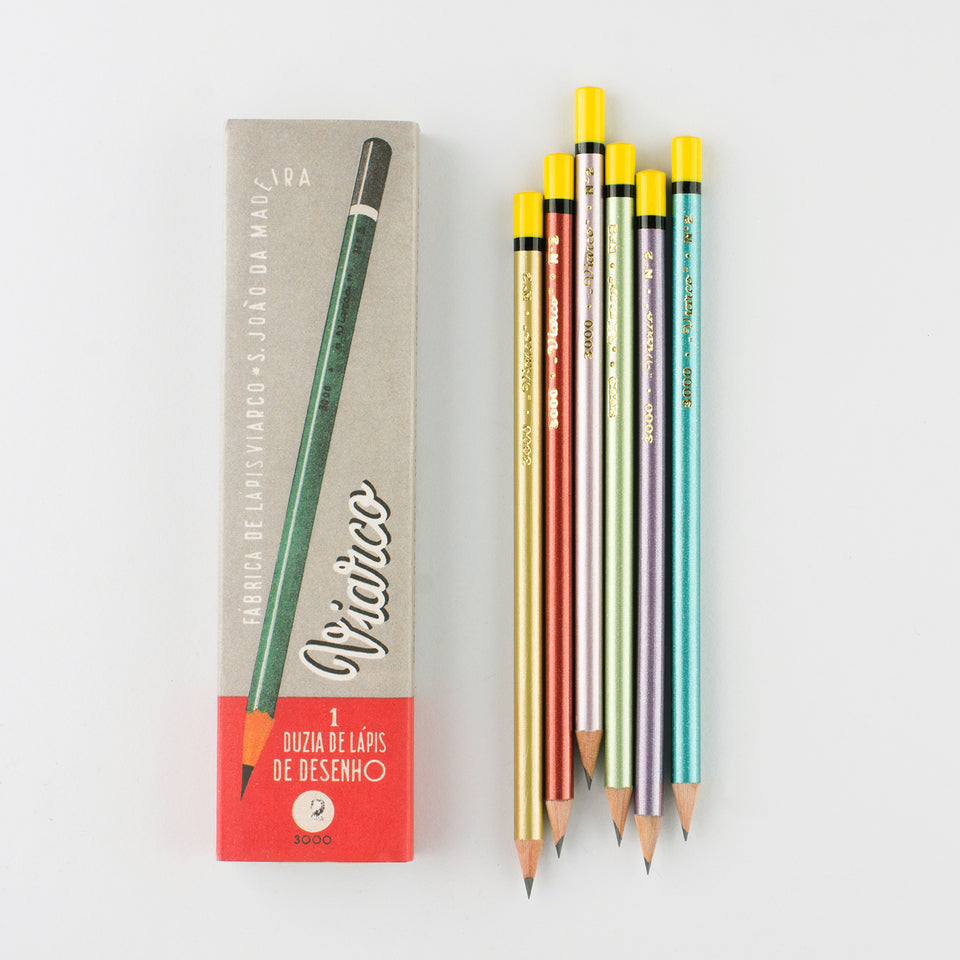 Viarco Vintage  Collection 3000 No. 2 Pencils Box of 12