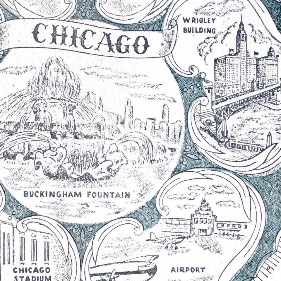 Starshaped Press Vintage Chicago Card