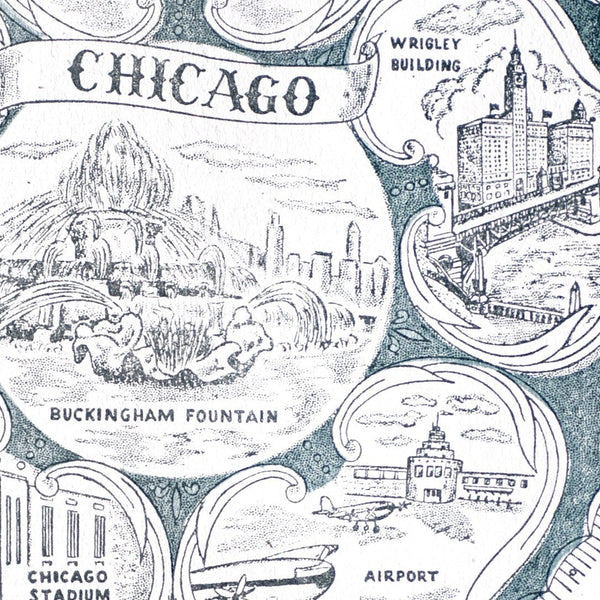 Vintage Chicago Card By Starshaped Press - 1