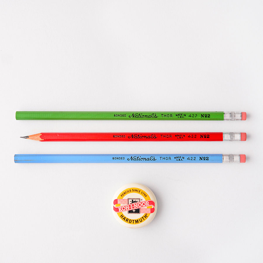 Vintage Vintage National Pencil Co. National's Thor 422 No. 2 Pencil | In three colors