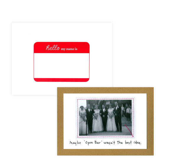 Visual Treats Open Bar Wedding Card - GREER Chicago Online Stationery Shop