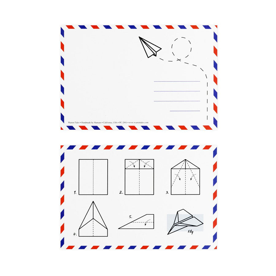 Warren Tales Paper Airplane Postcard - GREER Chicago Online Stationery Shop