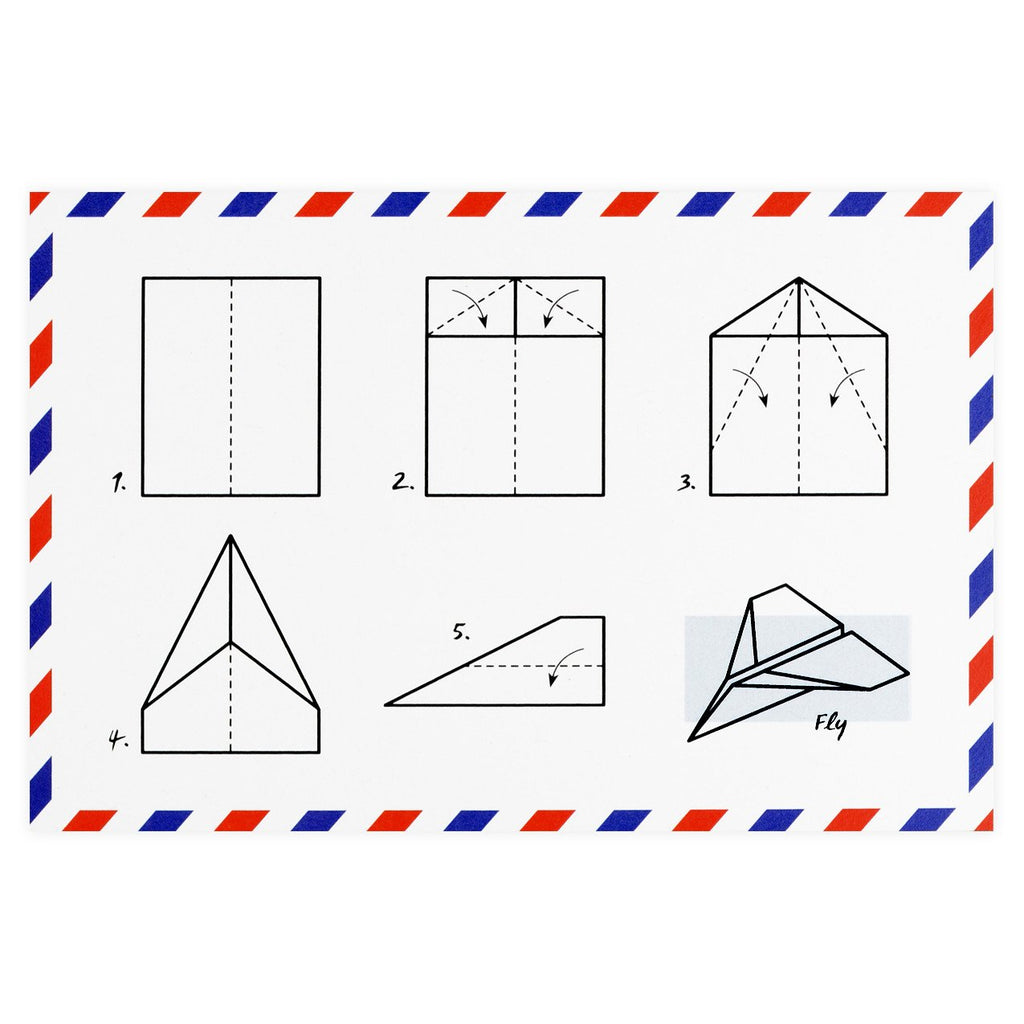 Paper Airplane Postcard By Warren Tales - 1