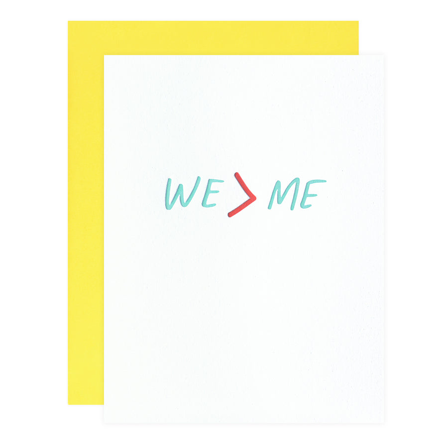 Iron Curtain Press We > Me Greeting Card - GREER Chicago Online Stationery Shop