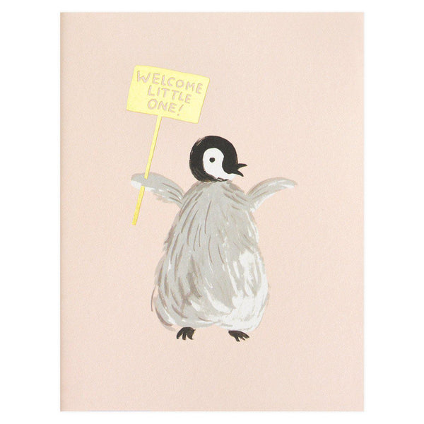 Rifle Paper Co. Welcome Penguin New Baby Card - GREER Chicago Online Stationery Shop