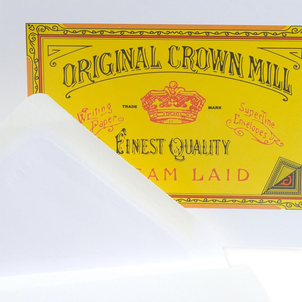 Classic Laid Note Card Presentation Box White By Crown Mill - 3
