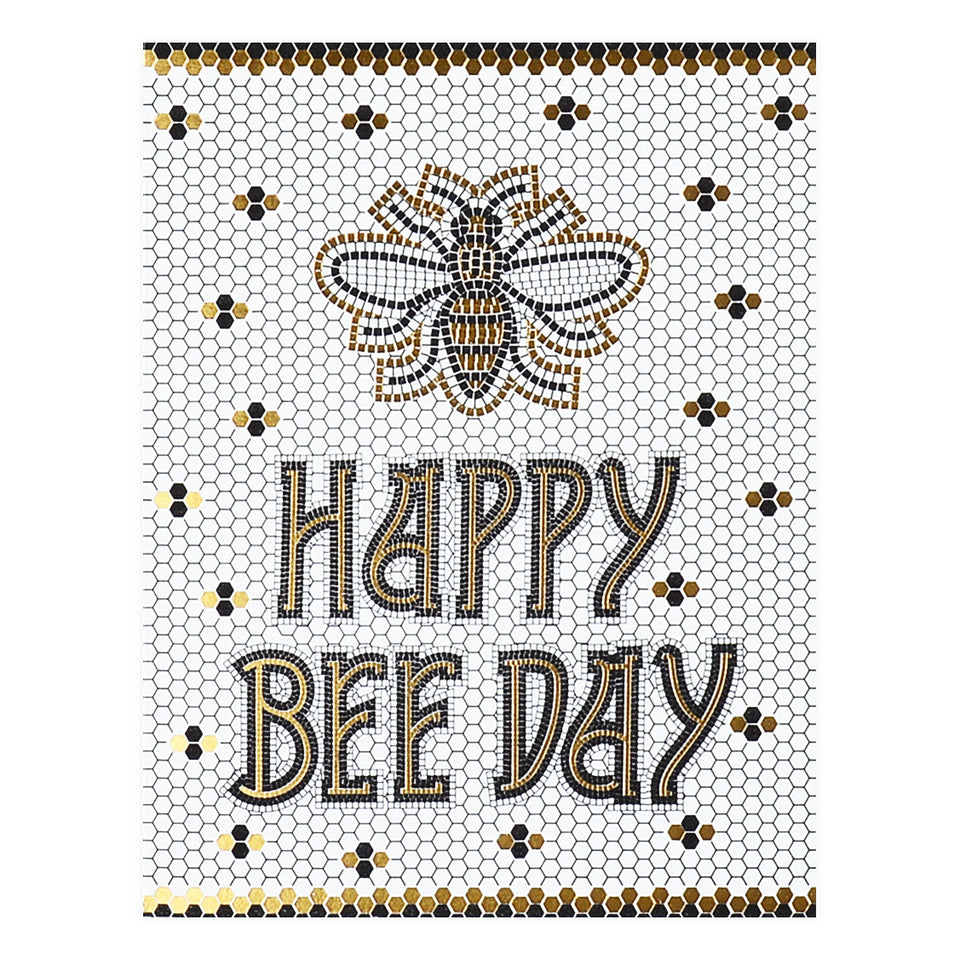 Wild Ink Press Bee Day Tile Birthday Card