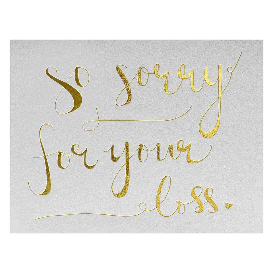 Wild Ink Press Sorry for Your Loss Sympathy Card