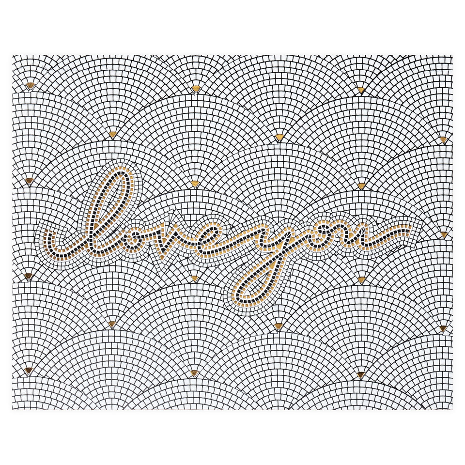 Wild Ink Press Love You Tile Greeting Card