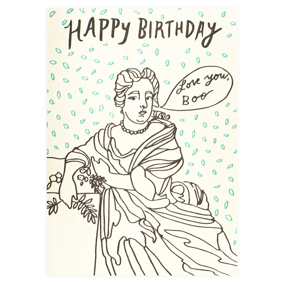 Wolf & Wren Press Portrait Birthday Card