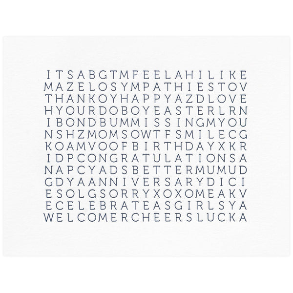 Word Search - GREER Chicago Online Stationery