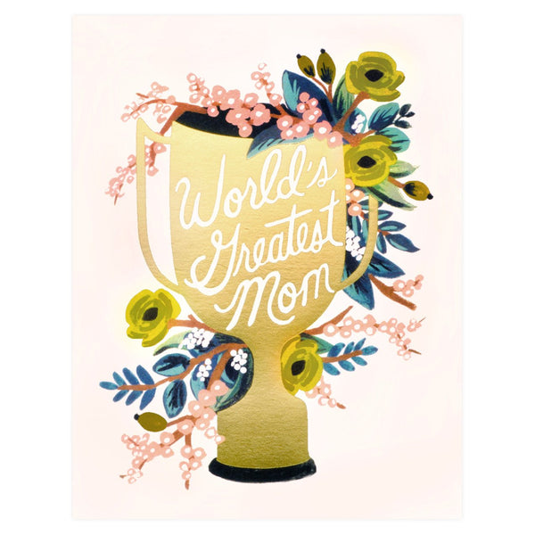 World's Greatest Mom Mother's Day Card - GREER Chicago Online Stationery