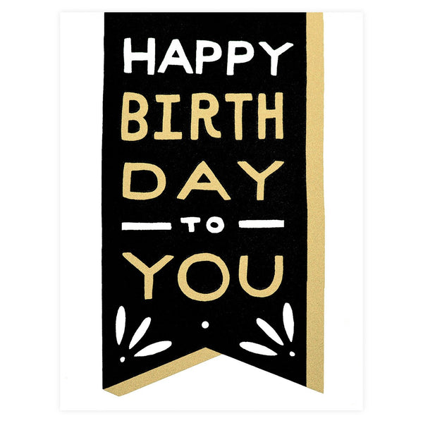 Birthday Banner Greeting Card By Worthwhile Paper